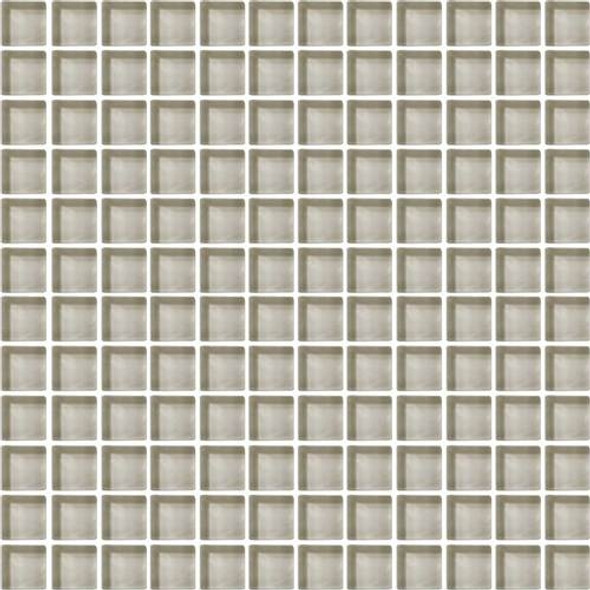 Supplier: Daltile, Series: Color Wave, Name: CW04 Silver Mink - Glossy, Color: White, Category: Glass Tile, Size: 1 X 1