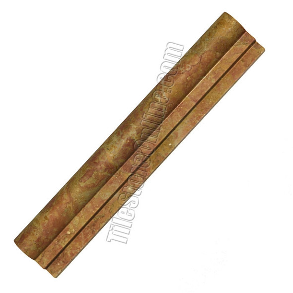 Type: Natural Stone Ogee Molding Series: Italian Marble Molding, Color: Giallo Real, Category: Natural Stone Trim, Price: $9.99, Size: 2 X 12