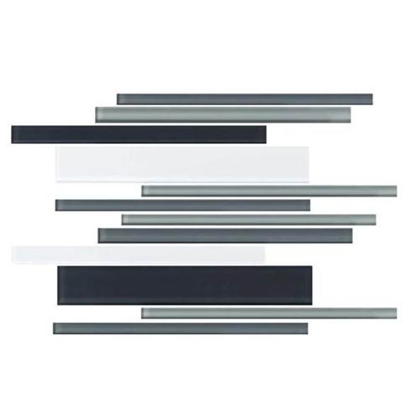 Daltile Color Wave Glass - CW28 Evening Mixer Blend - Random Linear Dal Tile Glass Tile - Glossy - Sample