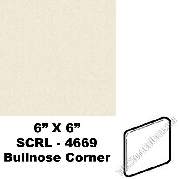 "Supplier: Daltile, Type: Glazed Ceramic Tile Accessory Trim Tile, Series: Semi Gloss Bullnose Corner, Name: 0135, Color: Almond, Category: Ceramic Tile, Price: $1.99, Size: 6""X6"""