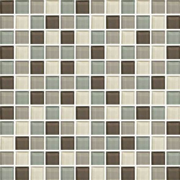 Daltile Color Wave Glass - CW24 Sweet Escape Blend - 1 X 1 Dal Tile Glass Tile - Glossy - Sample