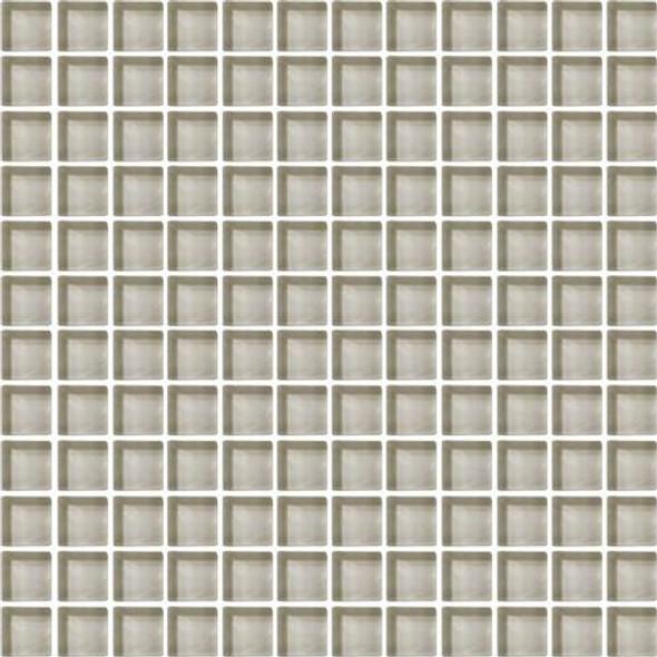 Daltile Color Wave Glass - CW04 Silver Mink - 1 X 1 Dal Tile Glass Tile - Glossy - Sample