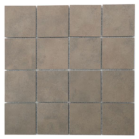 Daltile Veranda Solids - P501 Gravel - 3 X 3 Mosaic Tile - Sample