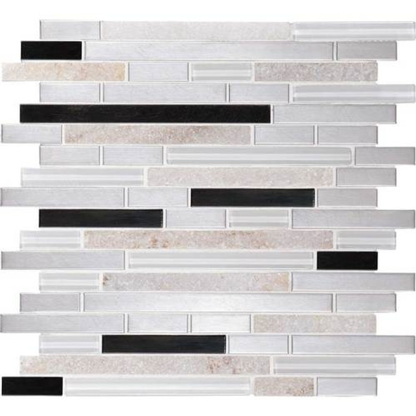 Supplier: Daltile Fanfare, Series: Endeavors, Name: F163, Color: Avant Garde, Category: Glass Stone and Metal Tile Mosaics, Size: 5/8 X Linear