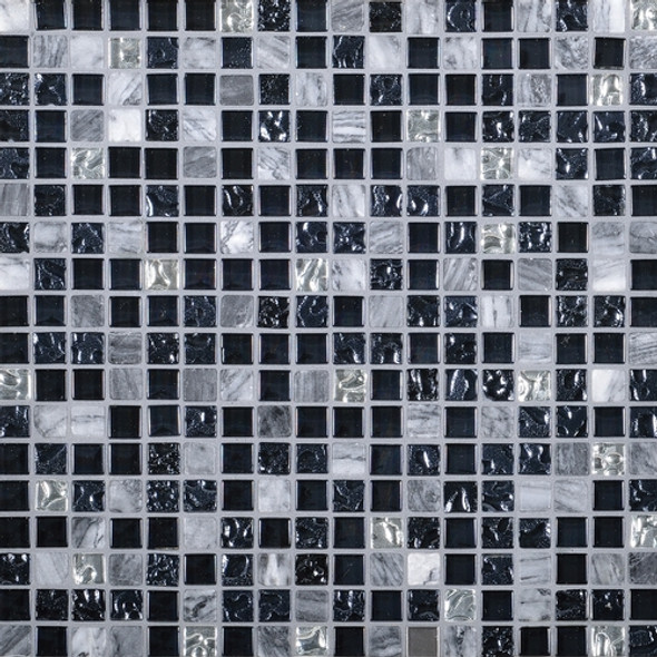 Daltile Marvel Mosaic - MV21 Mystique- 5/8 X 5/8 Glass Tile, Stone, and Metal Deco Tile Mosaic* SAMPLE *
