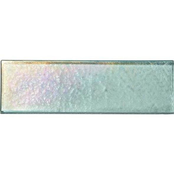 Daltile Oceanside Glass Horizons - GH02 Sea Glass - 2 X 8 Brick Subway - Textured Iridescent * SAMPLE *