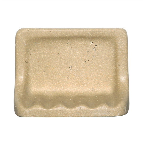 CoverQuik NAT01SD - Soap Dish - Resin Faux Stone - Dark Noce Travertine Color - Bath Accessory - $9.99