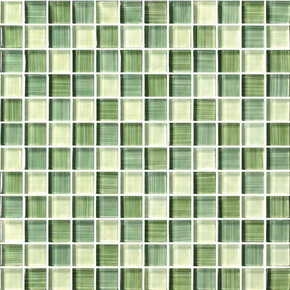 Bristol Studios - Painted Crystal Glass - G2354 Mint - 1X1 Glass Tile Mosaic - Glossy - $7.99