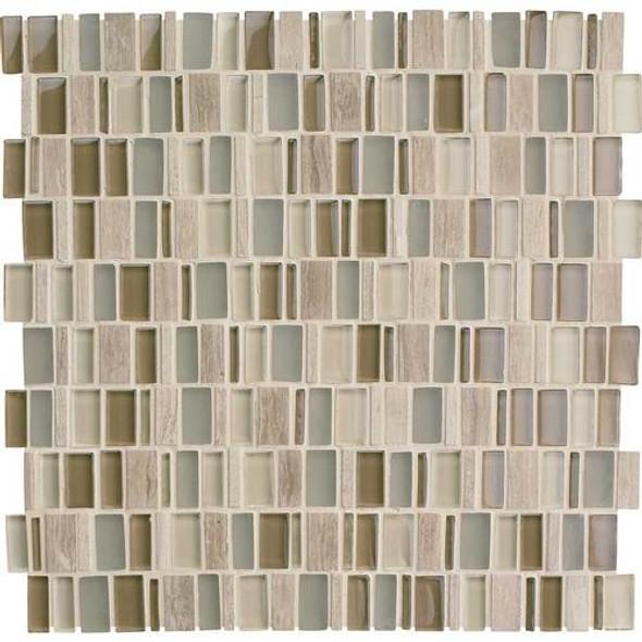 Daltile Clio Glass Mosaic - CL15 Hera - Glass & Stone Random Brick - Sample