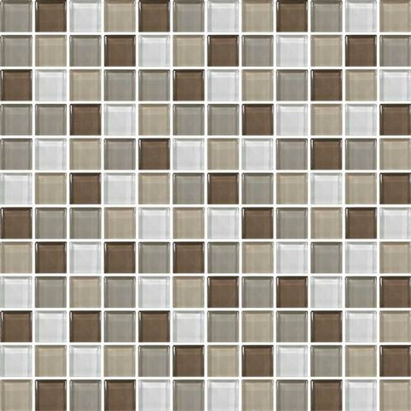 Daltile Color Wave Glass - CW23 Downtown Oasis Blend - 1 X 1 Dal Tile Glass Tile - Glossy - Sample