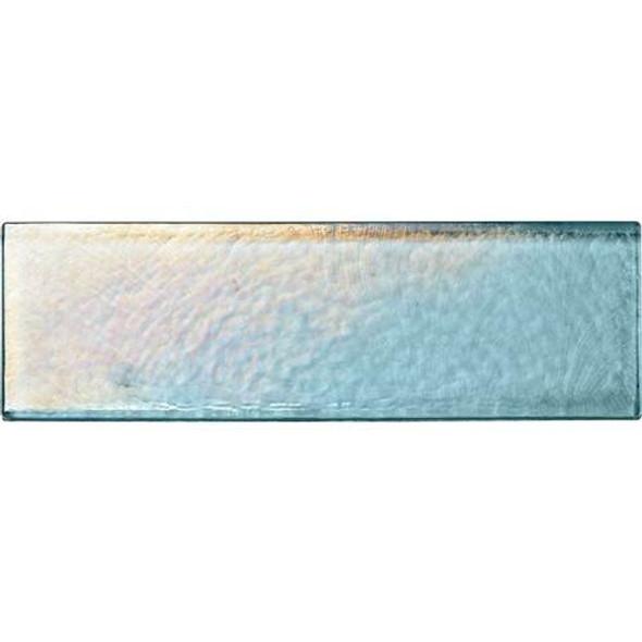 Daltile Oceanside Glass Horizons - GH03 Sky Blue - 2 X 8 Brick Subway - Textured Iridescent * SAMPLE *