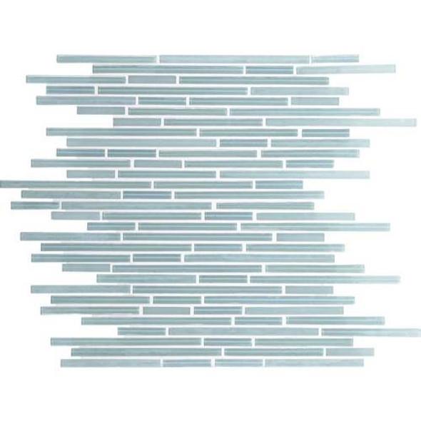 Daltile Fanfare Caprice Glass Mosaic - F165 Whisper Green - 5/16 X Random Linear Glass Tile Mosaic - Sample