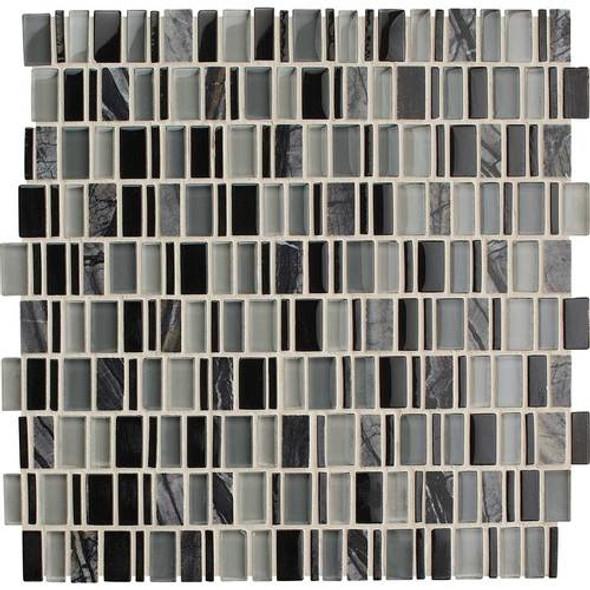 Daltile Clio Glass Mosaic - CL18 Boreas - Glass & Stone Random Brick - Sample