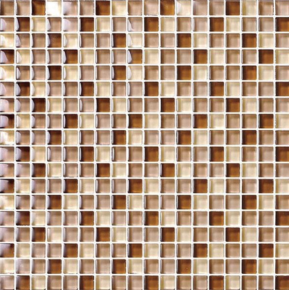 Bristol Studios - Mosaics De Verre - G2338 Rouille Squares - 5/8 X 5/8 Square Glass Tile Mosaic - Sample
