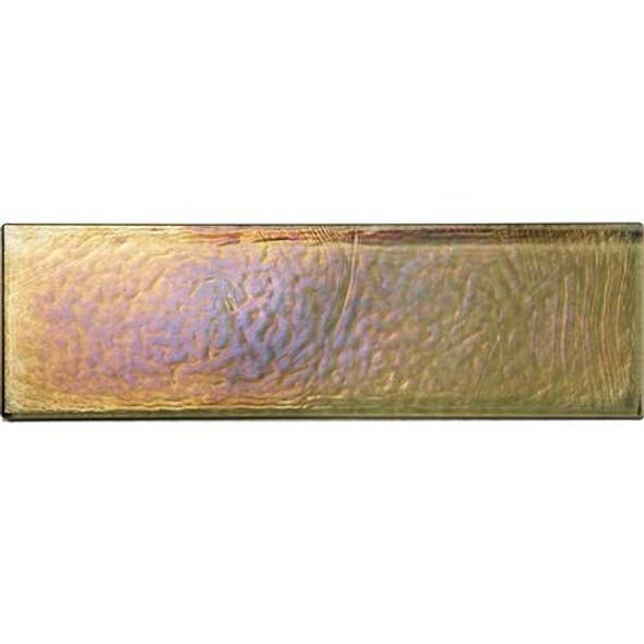Daltile Oceanside Glass Horizons - GH05 Lagoon - 2 X 8 Brick Subway - Textured Iridescent * SAMPLE *
