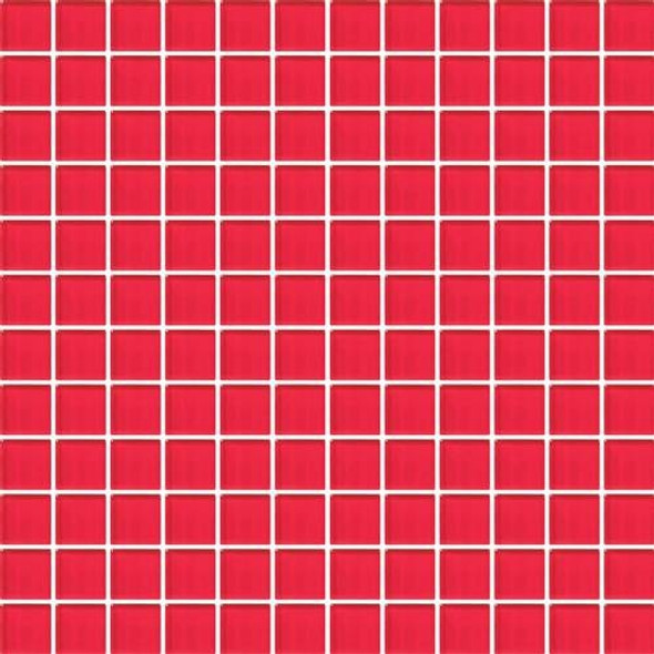 Daltile Color Wave Vibrant Glass - CW30 Red Hot - 1 X 1 Dal Tile Glass Tile - Glossy - Sample