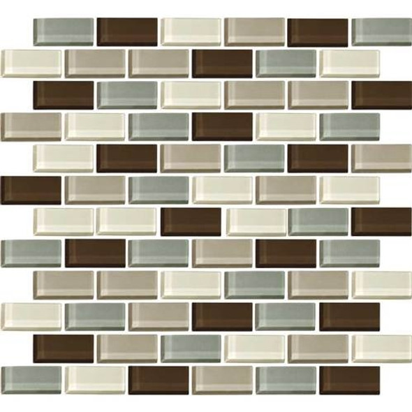 Daltile Color Wave Glass - CW24 Sweet Escape Blend - 1 X 2 Brick Subway Dal Tile Glass Tile - Glossy - Sample