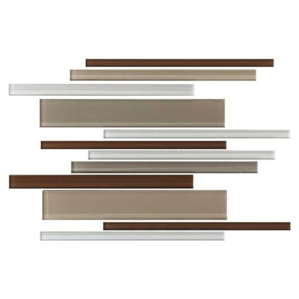 Daltile Color Wave Glass - CW23 Downtown Oasis Blend - Random Linear Dal Tile Glass Tile - Glossy - Sample