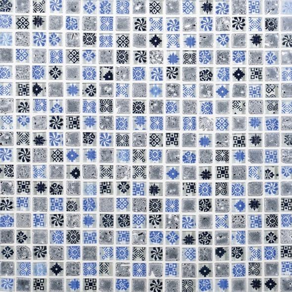 Daltile Marvel Mosaic - MV26 Artistry - 5/8 X 5/8 Glass Tile, Stone, and Metal Deco Tile Mosaic* SAMPLE *