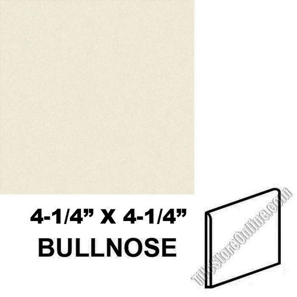"Supplier: Daltile, Type: Glazed Ceramic Tile Accessory Trim Tile, Series: Semi Gloss Bullnose, Name: 0135 S4449, Color: Almond, Category: Ceramic Tile, Price: $.99, Size:4.25""X4.25"""