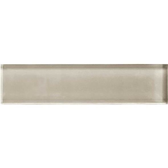 American Olean Color Appeal Glass - C103 Oxford Tan - 2X8 Brick Subway Glass Tile - Glossy - Sample