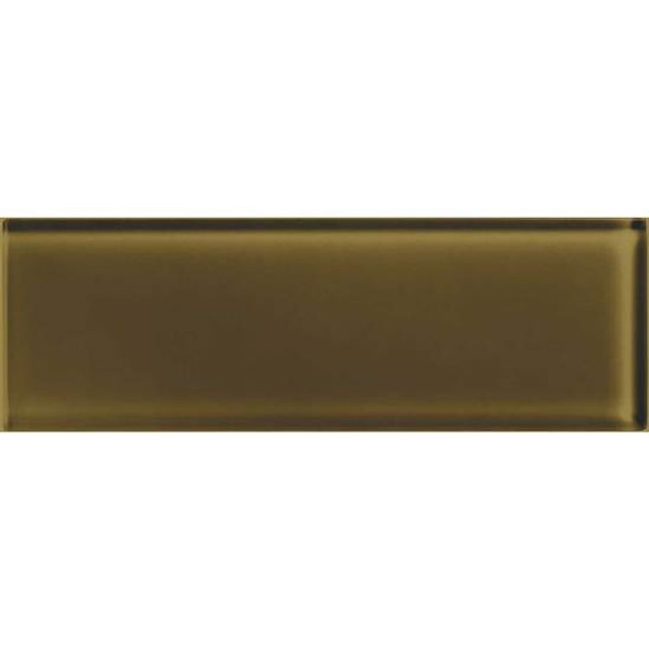 American Olean Color Appeal Glass - C113 Sable - 4X12 Subway Glass Tile Plank - Glossy - Sample