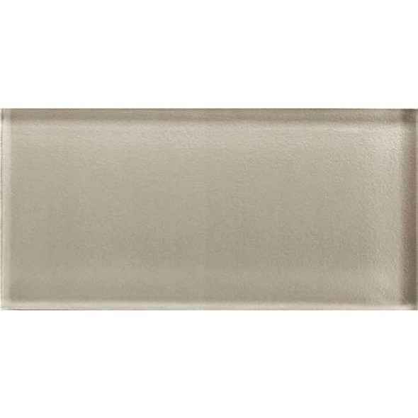 American Olean Color Appeal Glass - C103 Oxford Tan - 3X6 Brick Subway Glass Tile - Glossy - Sample