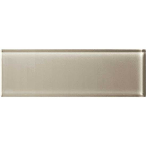 American Olean Color Appeal Glass - C103 Oxford Tan - 4X12 Subway Glass Tile Plank - Glossy - Sample