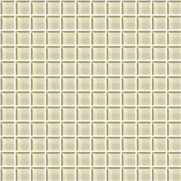 American Olean Color Appeal Glass - C104 Cloud Cream - 1X1 Glass Tile Mosaic - Glossy - Sample