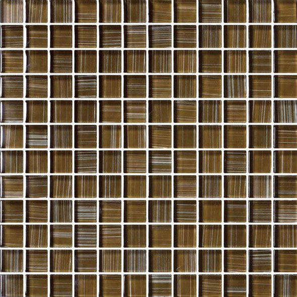 Bristol Studios - Painted Crystal Glass - G2356 Wheat - 1X1 Glass Tile Mosaic - Glossy - $7.99