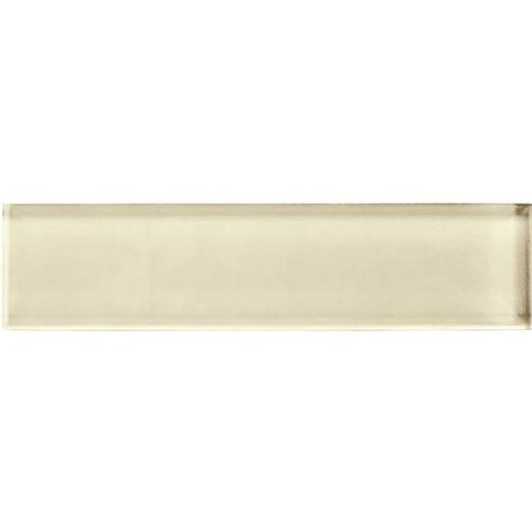 American Olean Color Appeal Glass - C104 Cloud Cream - 2X8 Brick Subway Glass Tile - Glossy - Sample