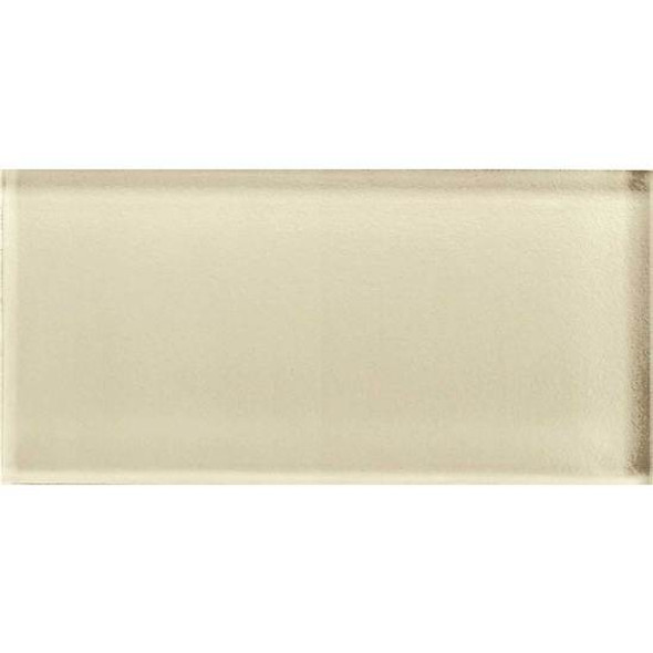 American Olean Color Appeal Glass - C104 Cloud Cream - 3X6 Brick Subway Glass Tile - Glossy - Sample