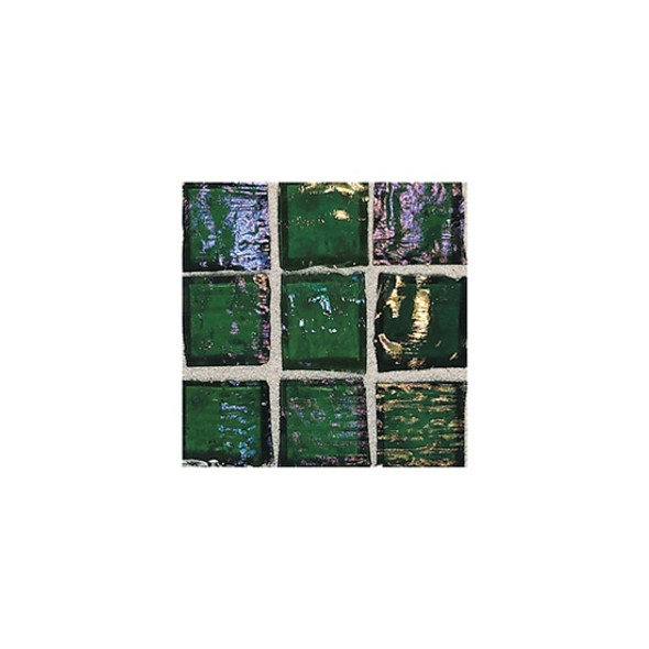 Supplier: American Olean, Series: Solare, Name: SO77 Rainforest - Clear Iridescent, Category: Glass Tile, Size: 1 X 1