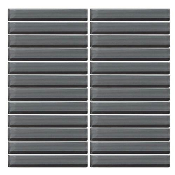 Supplier: Daltile, Series: Color Wave, Name: CW18 Top Hat - Glossy, Color: White, Category: Glass Tile, Size: 1 X 6