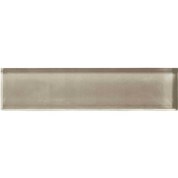 American Olean Color Appeal Glass - C105 Plaza Taupe - 2X8 Brick Subway Glass Tile - Glossy - Sample