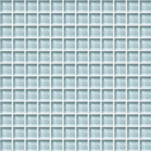 Daltile Color Wave Glass - CW12 Whisper Green - 1 X 1 Dal Tile Glass Tile - Glossy - Sample