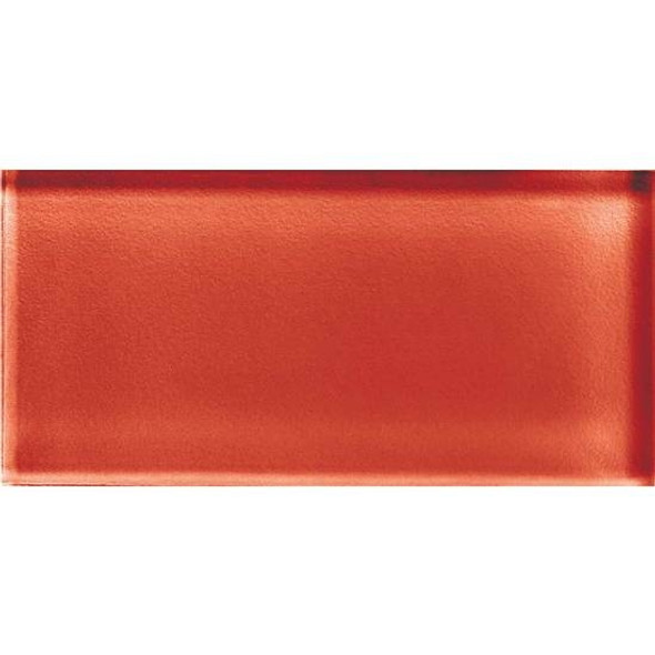 American Olean Color Appeal Glass - C116 Auburn - 3X6 Brick Subway Glass Tile - Glossy - Sample
