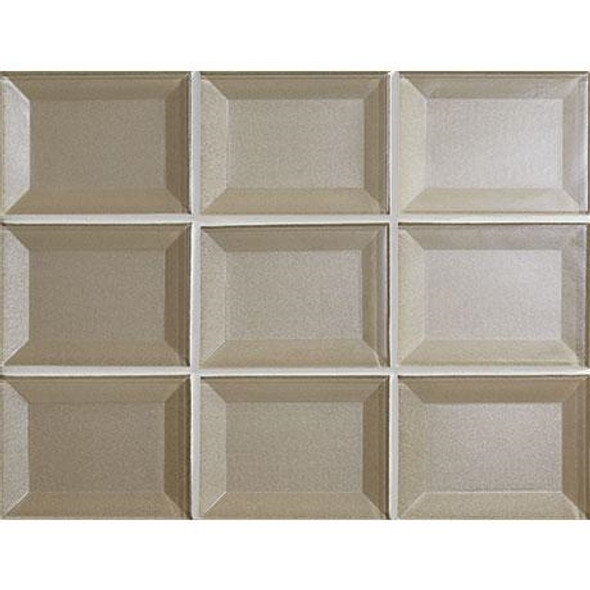 Marazzi - Luminescence LM08 Champagne - 3 X 4 Beveled Glass Mosaic - Sample