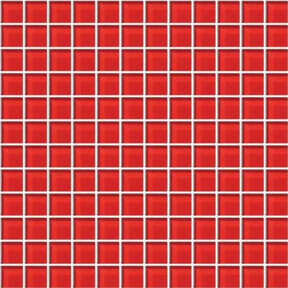 American Olean Color Appeal Glass - C117 Cherry - 1X1 Glass Tile Mosaic - Glossy - Sample