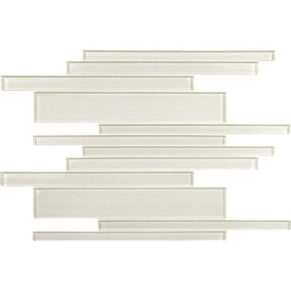 American Olean Entourage Silk Strands - SS03 Gossamer - Metallic Random Linear Interlocking Glass Tile Mosaic - Glossy