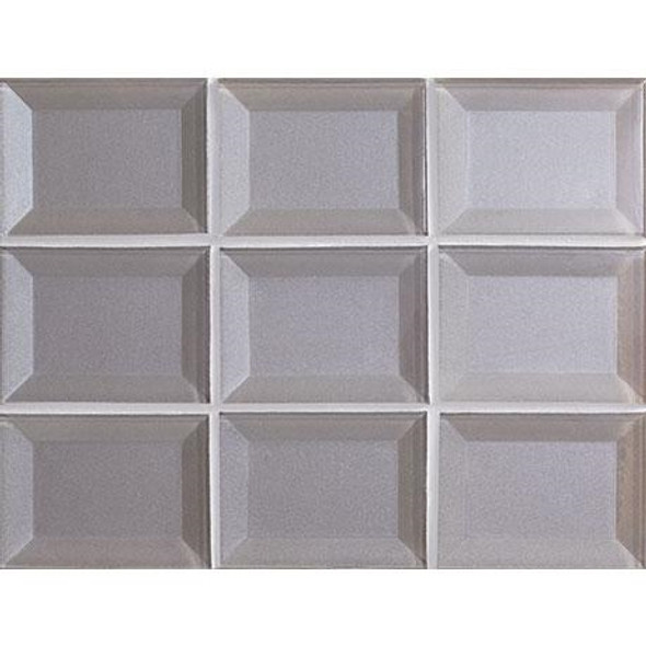 Marazzi - Luminescence LM09 Pearl - 3 X 4 Beveled Glass Mosaic - Sample