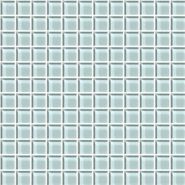 American Olean Color Appeal Glass - C106 Moonlight - 1X1 Glass Tile Mosaic - Glossy - Sample