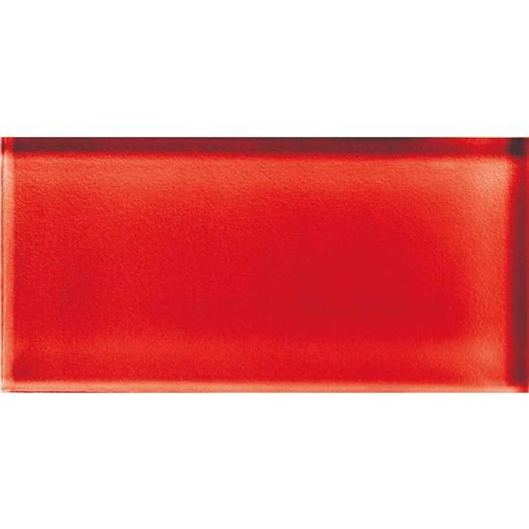 American Olean Color Appeal Glass - C117 Cherry - 3X6 Brick Subway Glass Tile - Glossy - Sample