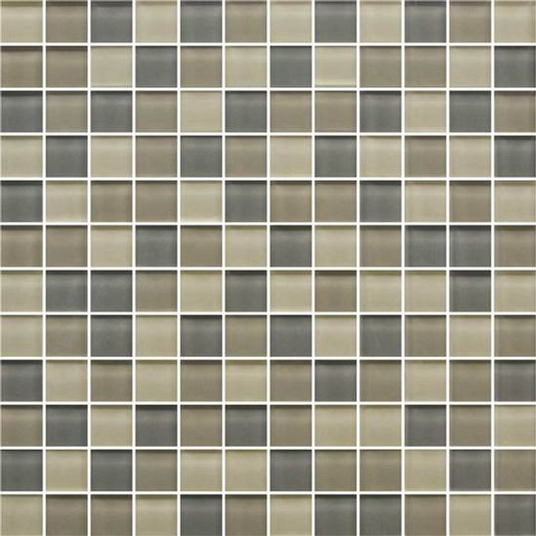 American Olean Color Appeal Glass Blends - C133 Sand Storm Blend - 1X1 Glass Tile Mosaic - Glossy - Sample