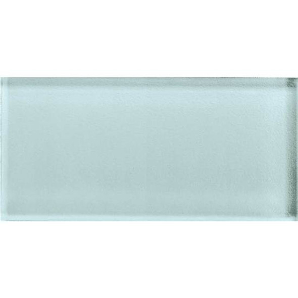 American Olean Color Appeal Glass - C106 Moonlight - 3X6 Brick Subway Glass Tile - Glossy - Sample