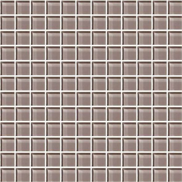 American Olean Color Appeal Glass - C118 Orchid - 1X1 Glass Tile Mosaic - Glossy - Sample
