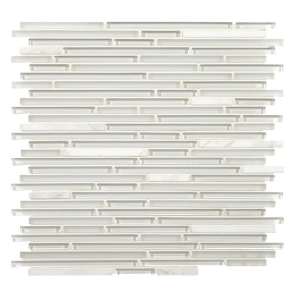 Supplier: American Olean, Series: Generations Glass, Name: GN01 Moments, Type: Glass & Stone Tile Mosaic, Size: 3/8 X Random