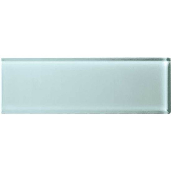 American Olean Color Appeal Glass - C106 Moonlight - 4X12 Subway Glass Tile Plank - Glossy - Sample