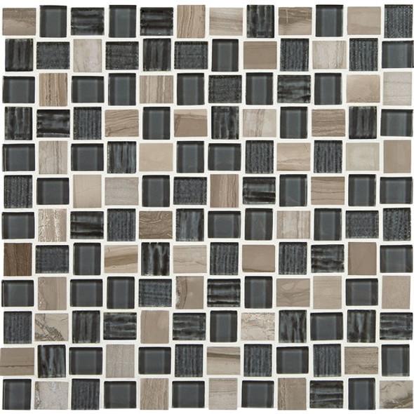"Supplier: American Olean, Series: Entourage Marble Weave, Name: MW06 Stonehenge, Type: Glass & Stone MosaicTile, Size: 1"" X 1"""