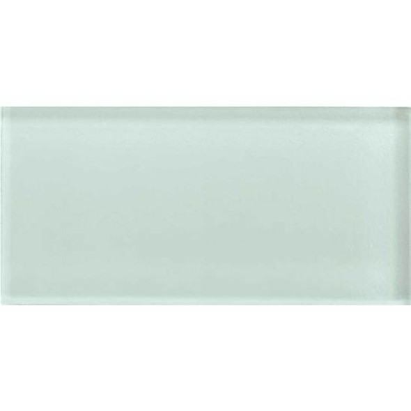 American Olean Color Appeal Glass - C107 Vintage Mint - 3X6 Brick Subway Glass Tile - Glossy - Sample
